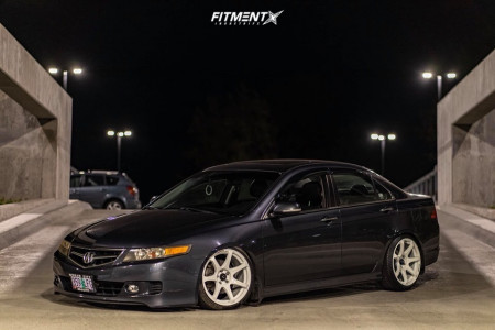 2008 Acura TSX - 18x9 25mm - Cosmis Racing MR7 - Coilovers - 215/40R18
