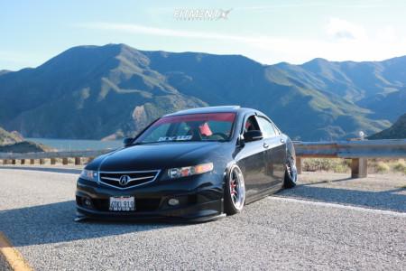 2008 Acura TSX - 18x9.5 10mm - Cosmis Racing XT-206R - Air Suspension - 215/35R18