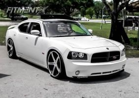 2010 Dodge Charger - 22x9 7mm - Concavo Wheels CW5 - Lowered Adj Coil Overs - 255/30R22