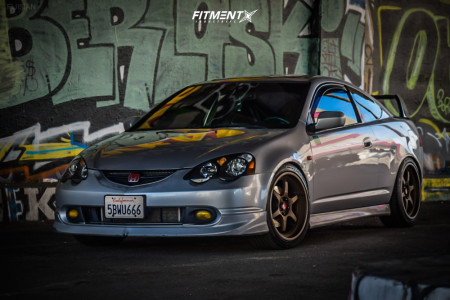 2003 Acura RSX - 18x8.5 35mm - Aodhan Ah08 - Coilovers - 225/35R18