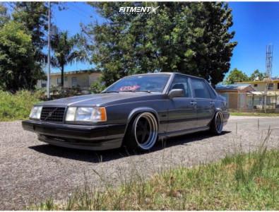 1992 Volvo 940 - 18x10.5 22mm - ESR SR04 - Lowering Springs - 215/40R18