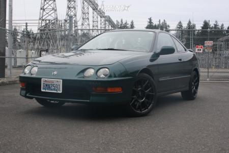 2000 Acura Integra - 17x8 35mm - Konig Ampliform - Stock Suspension - 215/40R17