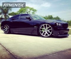 2008 Dodge Charger - 22x9 18mm - Factory Reproduction Viper - Lowered Adj Coil Overs - 265/35R22