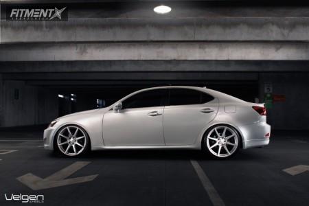 2010 Lexus IS250 - 20x9 35mm - Velgen VMB8 - Lowered on Springs - 245/30R20