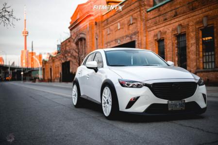 2016 Mazda CX-3 - 19x8.5 35mm - Rotiform Rse - Coilovers - 225/40R19