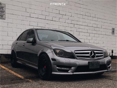 2013 Mercedes-Benz C350 - 19x10 35mm - Rotiform Ccv - Stock Suspension - 245/35R19