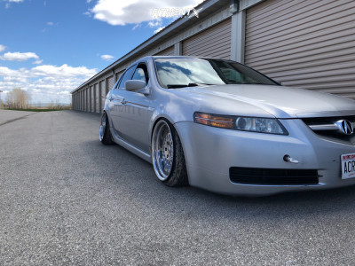 2004 Acura TL - 18x9.5 15mm - ESM 015 - Coilovers - 215/35R18