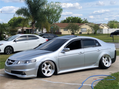 2005 Acura TL - 18x10.5 -9mm - Work Meister S1 3P - Coilovers - 225/25R18