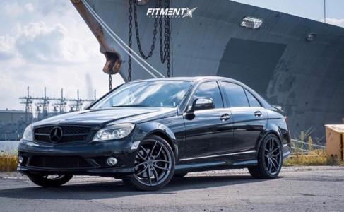 2008 Mercedes-Benz C350 - 19x8.5 42mm - Niche Vosso - Stock Suspension - 225/40R19