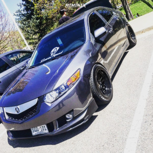 2010 Acura TSX - 17x9 5mm - Cosmis Racing XT-206R - Coilovers - 205/45R17
