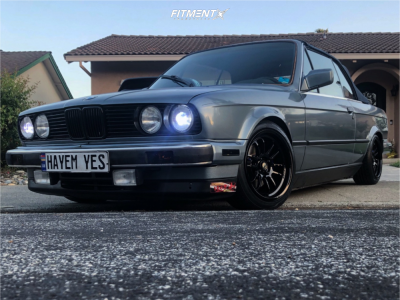 1988 BMW 325i - 15x8 30mm - Cosmis Racing XT-206R - Coilovers - 195/45R15