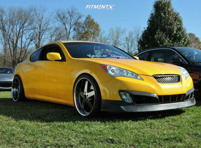 2011 Hyundai Genesis Coupe - 20x9 15mm - XXR 968 - Lowering Springs - 245/35R20
