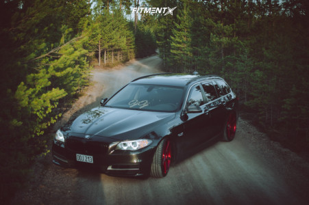 2014 BMW 520d - 20x8.5 35mm - JUDD T203 - Coilovers - 225/35R20
