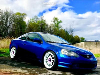 2002 Acura RSX - 18x9 33mm - Cosmis Racing XT-206R - Lowering Springs - 225/35R18