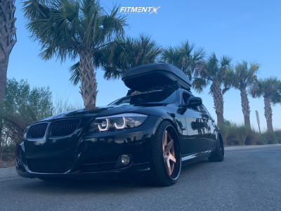 2010 BMW 335d - 19x9.5 20mm - Concept One CF-006s - Coilovers - 225/45R19