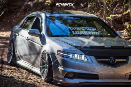 2007 Acura TL - 18x10.5 10mm - Circuit Performance CP32 - Coilovers - 225/35R18