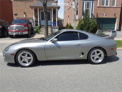 1998 Toyota Supra - 18x9.5 30mm - Aodhan Ds05 - Lowered Adj Coil Overs - 275/35R18