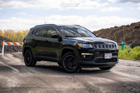 2019 Jeep Compass - 18x8 20mm - Touren Tr60 - Stock Suspension - 225/55R18