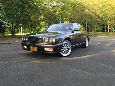 1993 Nissan Cedric - 20x8.5 40mm - TSW Hockenheim S - Stock Suspension - 225/40R20