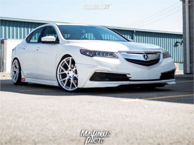 2016 Acura TLX - 20x9 38mm - Vossen Vfs6 - Coilovers - 245/30R20