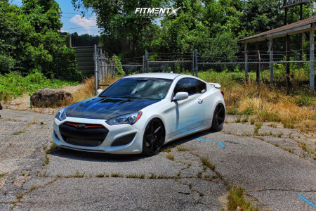 2013 Hyundai Genesis Coupe - 20x9 35mm - KMC Km685 - Coilovers - 225/30R20