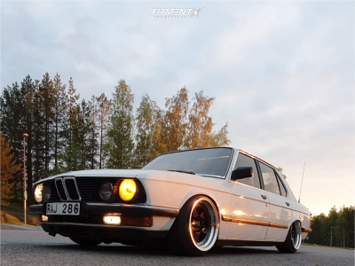 1984 BMW 525i - 17x10 20mm - Japan Racing Jr6 - Coilovers - 205/40R17