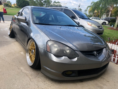 2002 Acura RSX - 18x9.5 35mm - Rotiform Lsr - Coilovers - 215/35R18