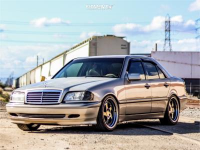 1999 Mercedes-Benz C230 - 19x8.5 30mm - ESR Sr02 - Lowering Springs - 225/40R19
