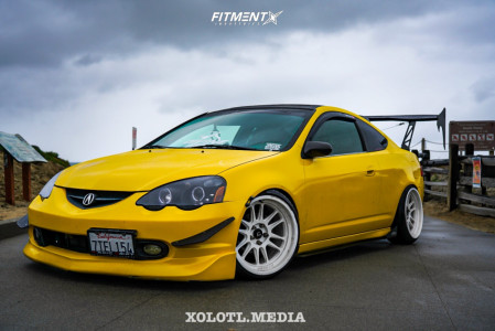 2003 Acura RSX - 18x9.5 10mm - Cosmis Racing XT-206R - Coilovers - 225/35R18