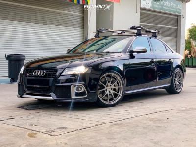 2008 Audi A4 Quattro - 19x8.5 38mm - Volk G25 - Stock Suspension - 245/35R19