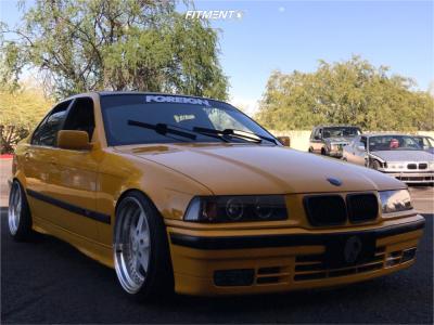 1994 BMW 318i - 18x9.5 22mm - ESR SR04 - Coilovers - 215/35R18