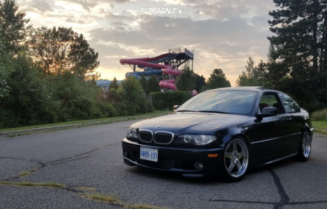 2004 BMW 330Ci - 18x8.5 28mm - Klutch Sl5 - Coilovers - 225/40R18