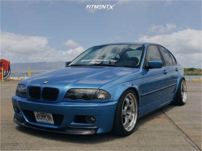 2001 BMW 325i - 18x9.5 35mm - Work Meister - Coilovers - 245/35R18