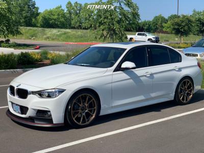 2018 BMW 328d xDrive - 19x8.5 32mm - Konig Freeform - Lowering Springs - 225/40R19