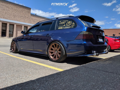 2008 BMW 535xi - 19x9 24mm - Borbet Style 95 - Coilovers - 225/40R19