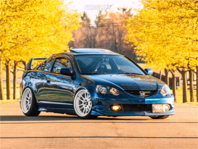 2002 Acura RSX - 18x9.5 10mm - Cosmis Racing XT-206R - Coilovers - 225/35R18