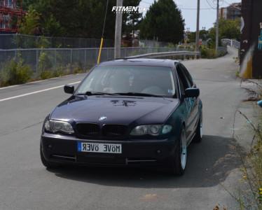 2002 BMW 330xi - 18x8.5 30mm - ESR SR04 - Lowering Springs - 235/40R18