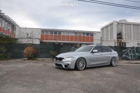 2017 BMW 320i - 20x9 35mm - Asanti Black Abl-14 - Coilovers - 245/30R20