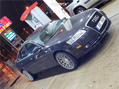 2008 Audi A6 Quattro - 20x10 35mm - Rotiform Blq - Stock Suspension - 255/35R20