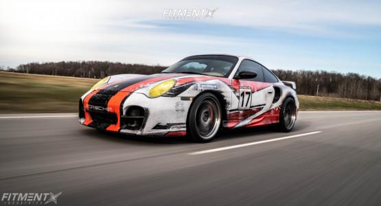 2001 Porsche 911 - 19x9 38mm - ESR ES11-ST - Coilovers - 235/35R19