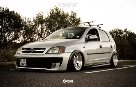 2004 Chevrolet Optra - 15x7.5 20mm - Work Meister S1 3P - Air Suspension - 165/40R15