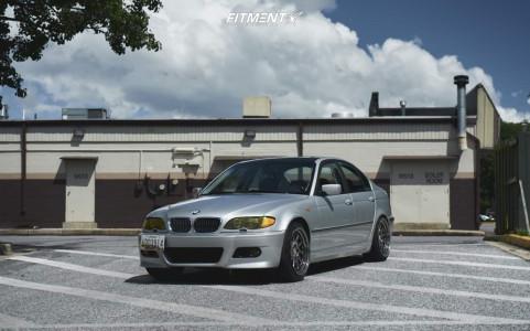 2003 BMW 325xi - 18x9.5 35mm - ESR Sr09 - Lowering Springs - 235/40R18