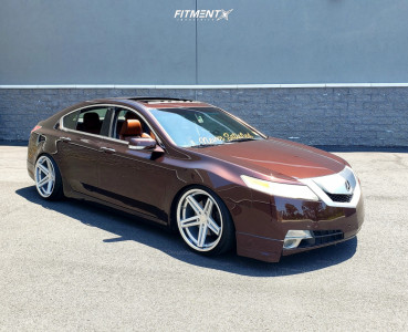 2010 Acura TL - 20x10 25mm - Concept One Cs-55 - Coilovers - 255/30R20