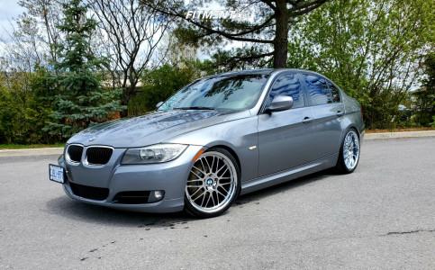 2011 BMW 323i - 19x8.5 30mm - Beyern Mesh - Coilovers - 235/30R19