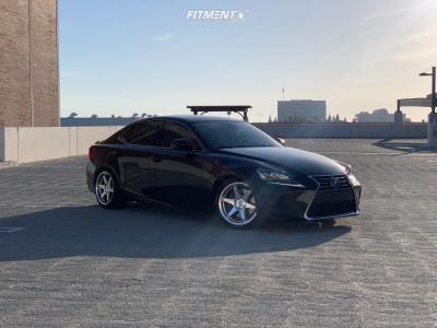 2017 Lexus IS Turbo - 18x9.5 35mm - ESR Sr07 - Lowering Springs - 235/40R18