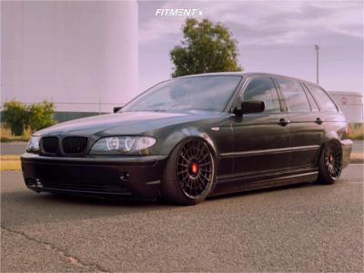 2004 BMW 320i - 18x8.5 35mm - Rotiform Las-r - Air Suspension - 205/40R18