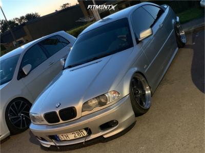 2001 BMW 330Ci - 18x9 25mm - Japan Racing JR12 - Air Suspension - 205/35R18