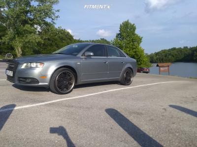 2008 Audi A4 Quattro - 19x9 38mm - Schmidt Phantom - Stock Suspension - 235/35R19