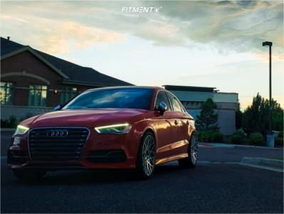 2015 Audi S3 - 19x8.5 35mm - Rotiform Blq - Stock Suspension - 255/35R19