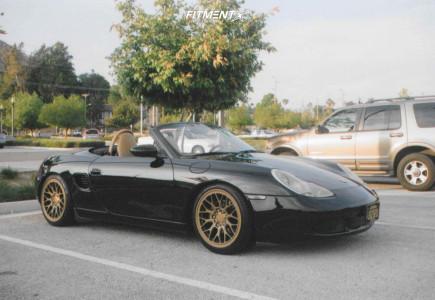 2001 Porsche Boxster - 18x8.5 45mm - ESM Esm-ff1 - Coilovers - 215/40R18